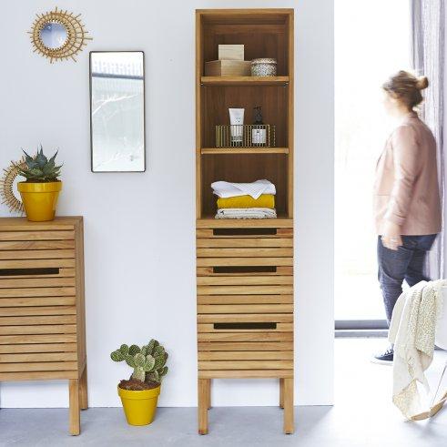 180 Slats tall teak cabinet