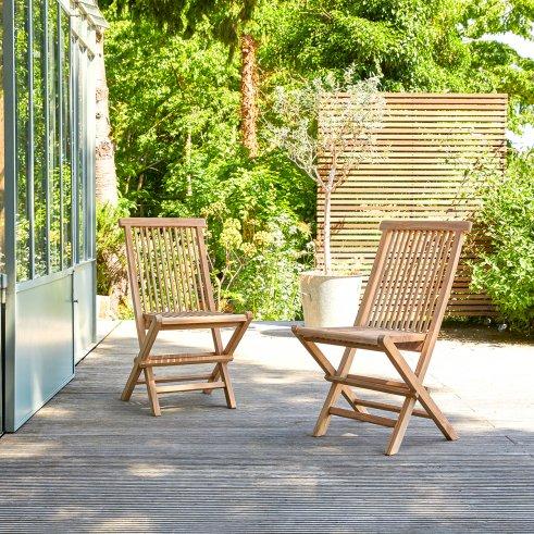 2 Capri Teak Outdoor Chairs