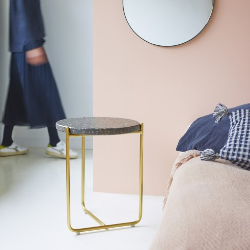 Anatole Terrazzo and Metal Bedside Table