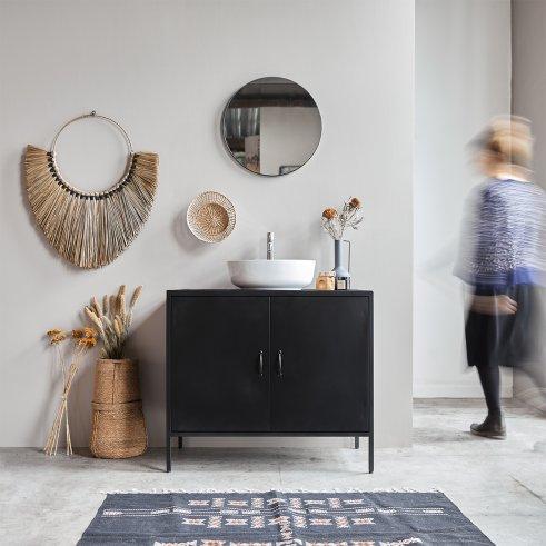 Arsène metal and mango vanity cabinet 90
