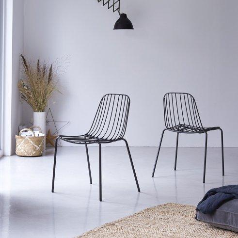 Arty Dark-Grey Metal Chair
