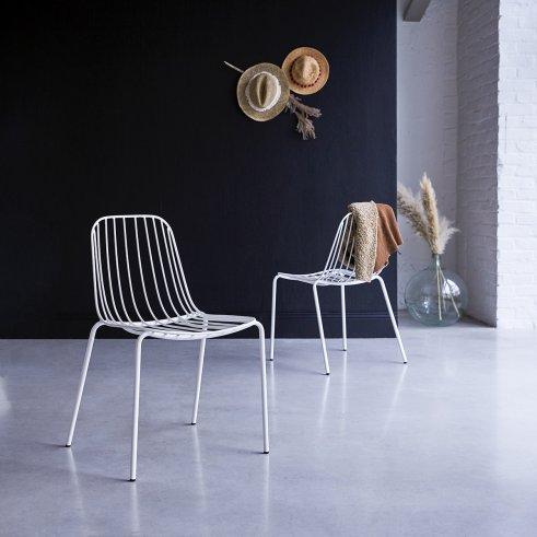 Arty Metal Chair White