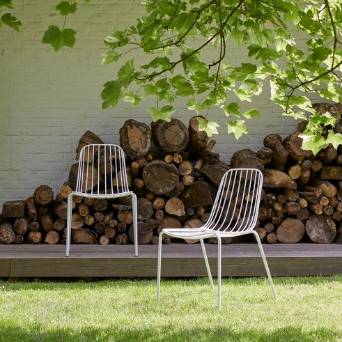 Arty Metal Garden Chair White