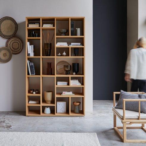 Bücherregal aus Eiche Eyota 130x220