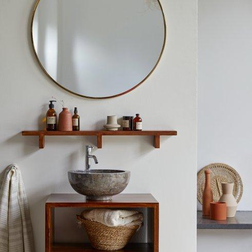 Bahya Horizontal Sheesham Bathroom Shelf