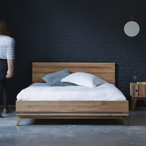 Brooklyn Recycled Wood Double Bed 160x200