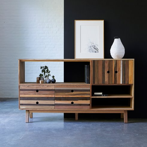 Brooklyn recycled wood Sideboard 180