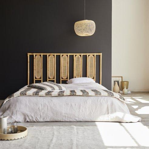 Cabecero de cama de rejilla de ratán 160 Paulette
