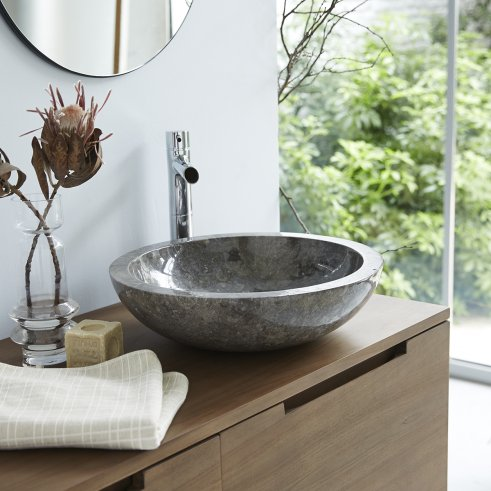 Calypso Grey marble washbasin
