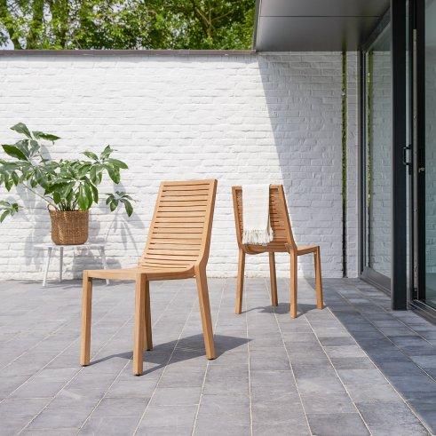 Chaise de jardin en teck Teo