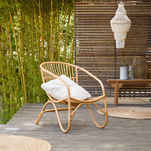 Chaise outdoor en rotin Mutine naturel
