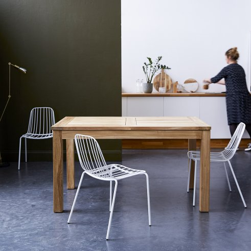 Cloé Extendable Teak Table 140x90