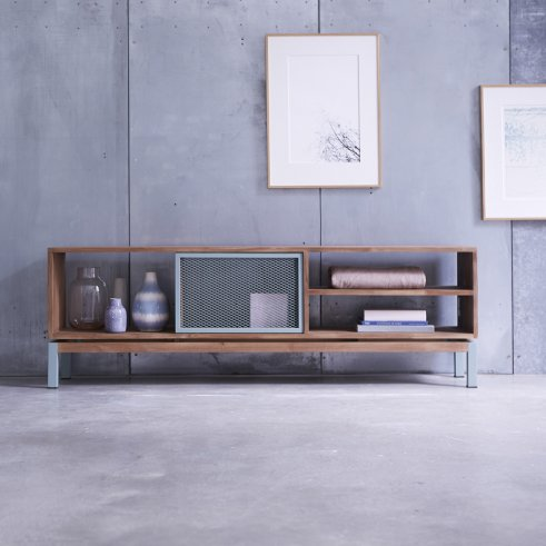 Color Bebop Metal and Teak TV Cabinet 170