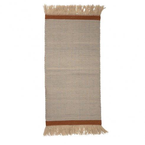Der Teppich Eline aus Wolle 60 x 120