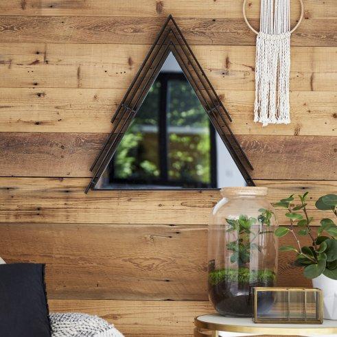 Dreieckiger Spiegel aus Metall Maho 60