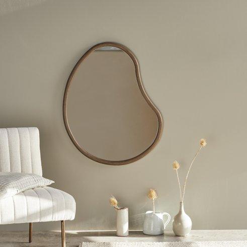 Espejo de madera de mindi de 85x65 Cleo