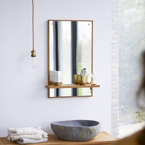 Espejo de teca Galyno 75x45