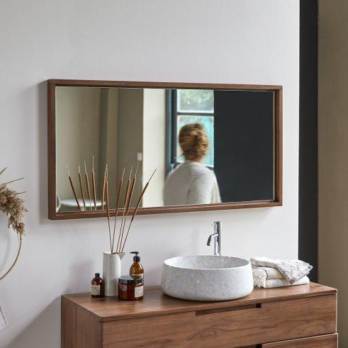Espejo de teca Parker 120
