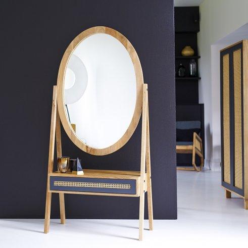 Espejo en madera de mango Rafael 160x77