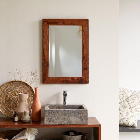 Espejo en palisandro 70x50 Kwarto