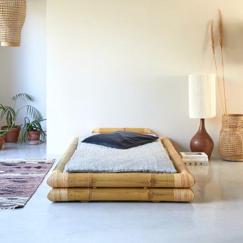 Futonbett aus Bambus 90x190 Balyss
