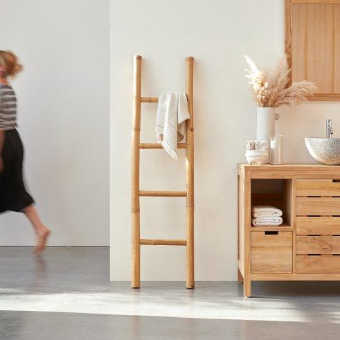 Handtuchhalter aus Bambus natur