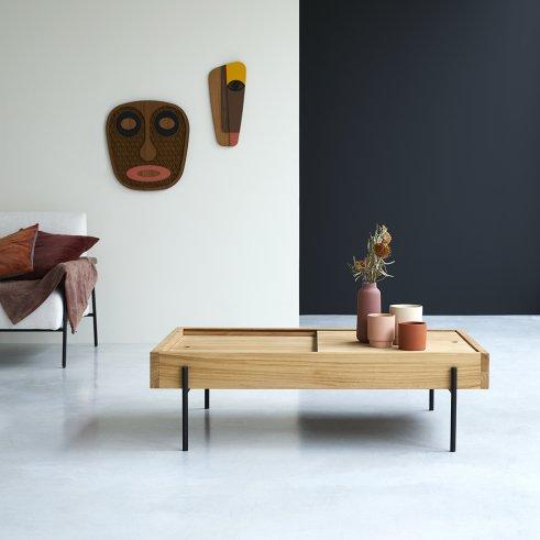 Honorine 120 x 75 teak coffee table