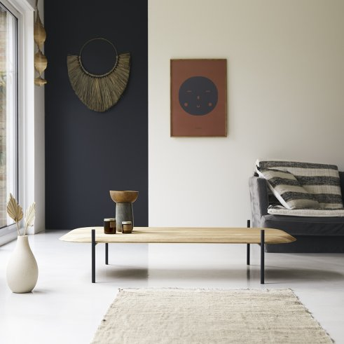 Honorine 140x75 teak coffee table