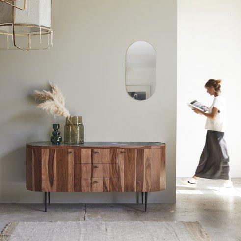 Jade Sheesham and marble Sideboard 175