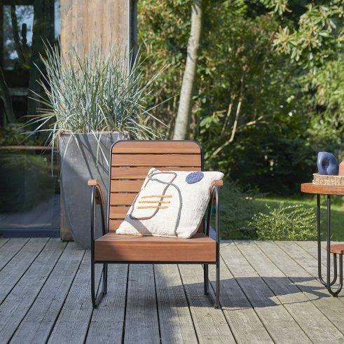 Key Wood outdoor Armchair
