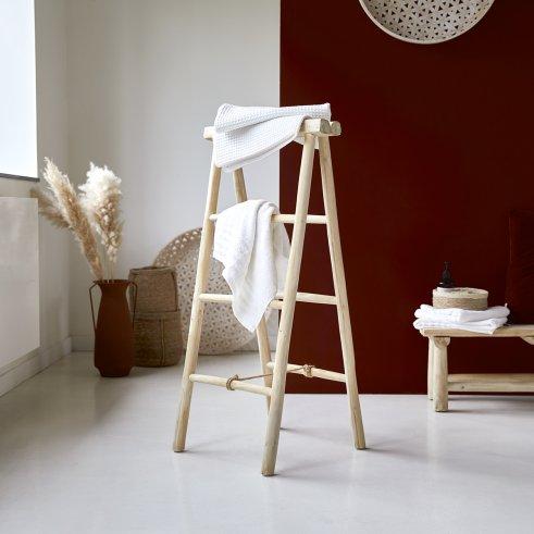 Kilim teak ladder towel rack 100