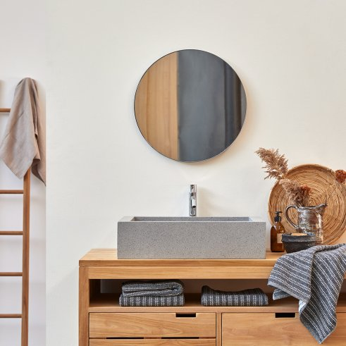 Lavabo in Battuto di terrazzo Pegase grey 60