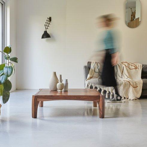 Luna Sheesham Coffee Table 95x95