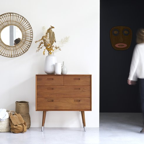 Magda 50's Teak Chest of 4 Drawers