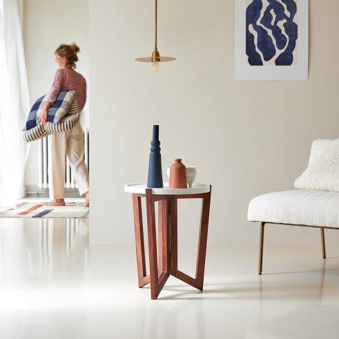 Mesa accesoria en palisandro blanco 40 Niels