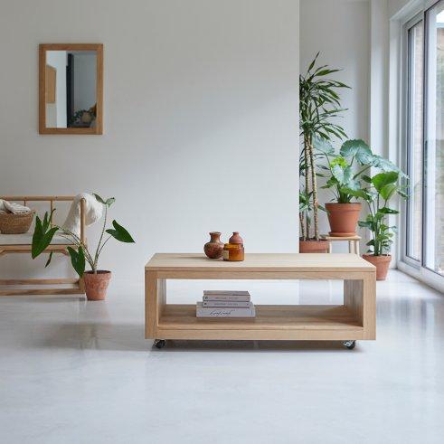 Mesa baja de roble 110x60 Anoa Oak