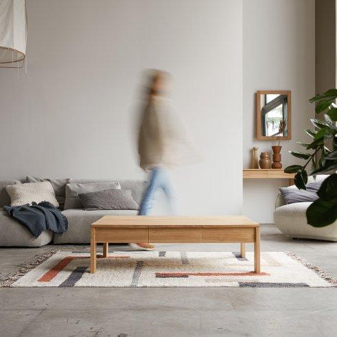 Mesa baja en teca 120x80 Eden