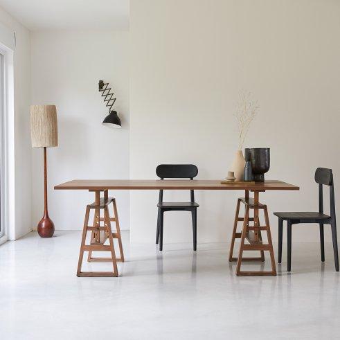 Mesa de comedor 200x100 en teca Trestle