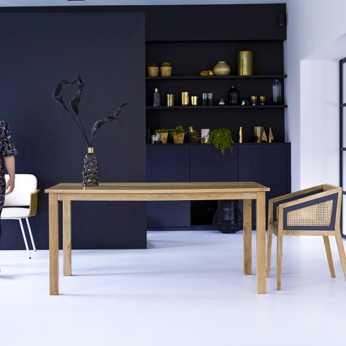 Mesa en madera de mango 160x90 Rafael