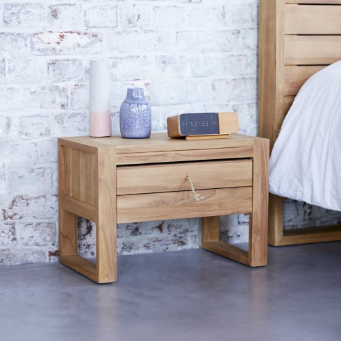 Minimalys Teak Bedside Table