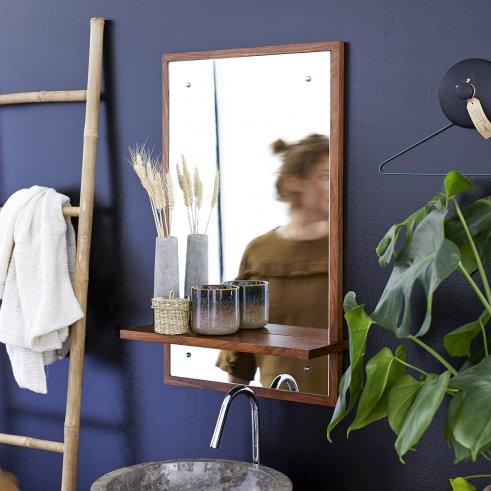 Miroir en palissandre Galyno 75x45