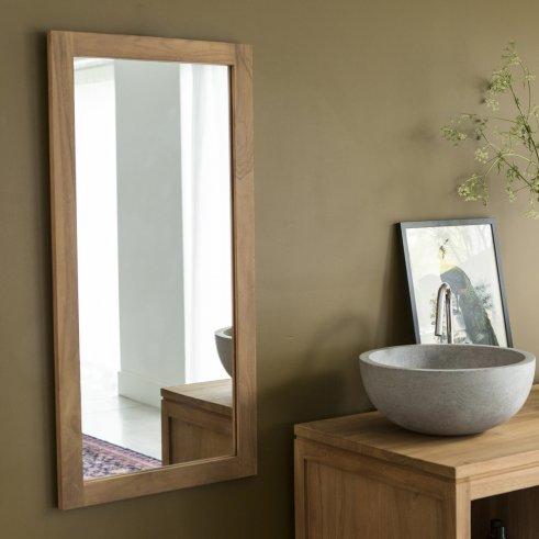 Miroir en Teck Bahya Duo 100x50