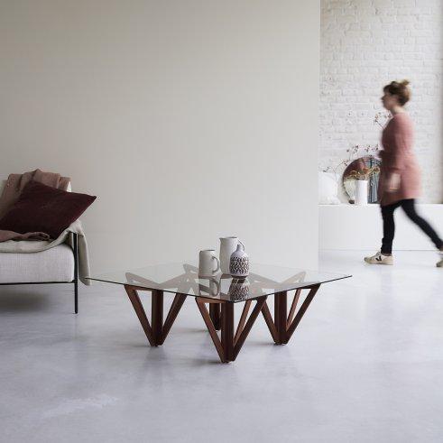 Mona Teak Coffee Table 100x100