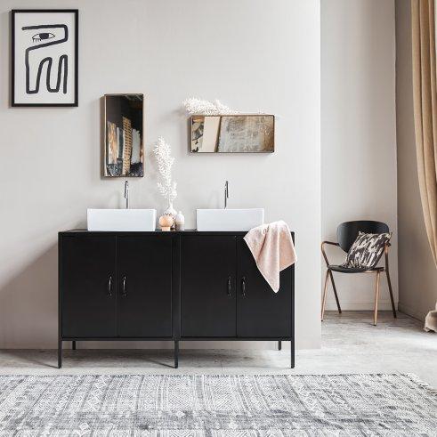 Mueble de baño de metal y mango 140 Arsène
