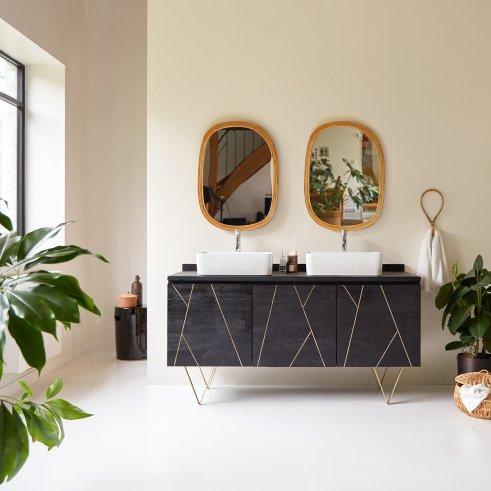 Mueble de baño en madera de mango 155 Liv