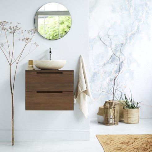 Mueble de baño suspendido de teca 60 Romeo