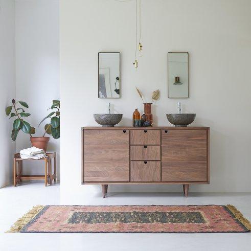 Mueble de lavabo de nogal 145 Jonàk Walnut