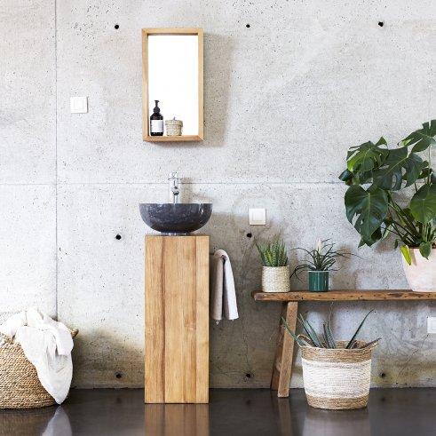 Mueble de lavabo de teca 30 Stelle derecho