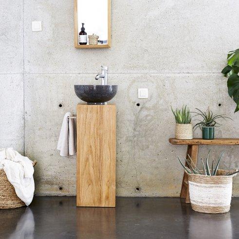 Mueble de lavabo de teca 30 Stelle izquierda