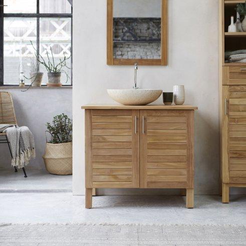 Mueble de lavabo de teca 85 Soho